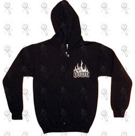 design logo hoodie down black flaming logo design zip up hoodie clothing
