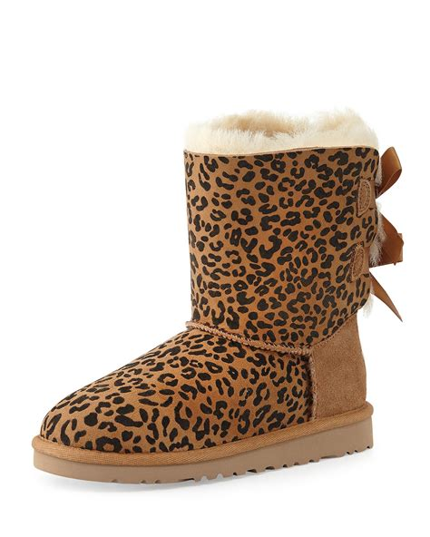 cheetah boots ugg leopard print bailey boot in animal leopard lyst