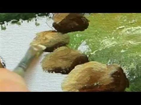 acrylic painting rocks part 6 landscape acrylic how to paint rocks