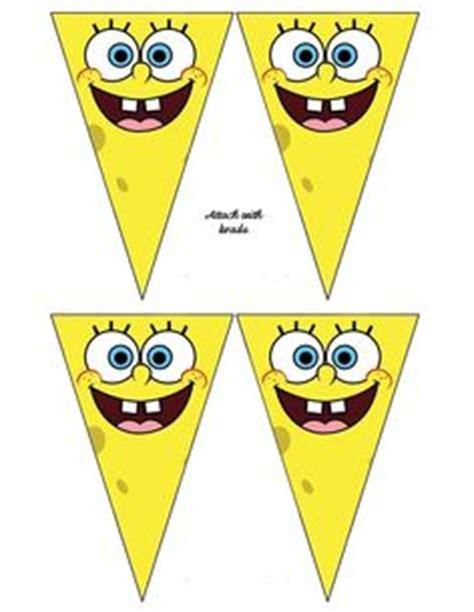 free printable spongebob happy birthday banner 1000 images about boys spongebob on pinterest spongebob