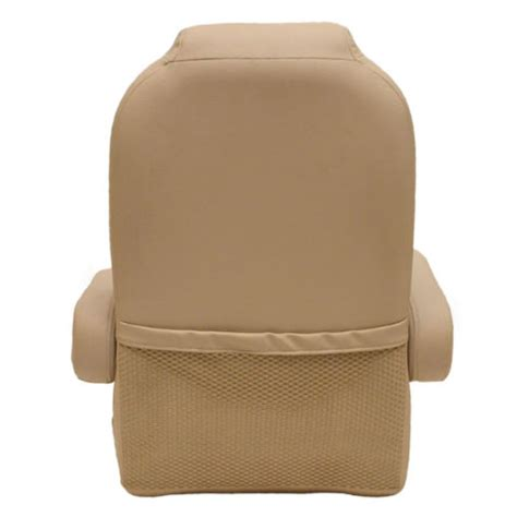 mesh boat seats south bay beige reclining captains marine boat seat chair