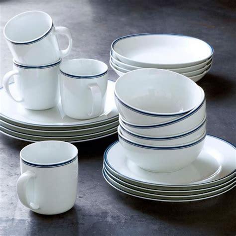 williams sonoma open kitchen blue bistro dinnerware