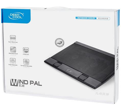 Deepcool Notebook Cooler Windpal deepcool wind pal notebook cooler black at mighty ape australia