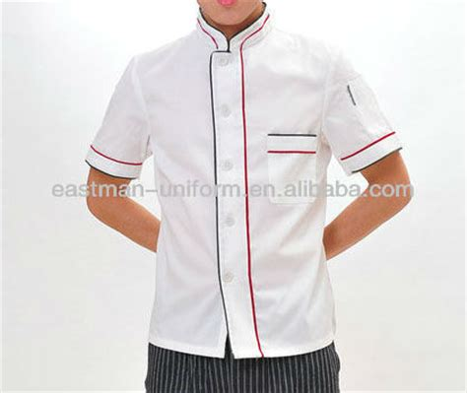 desain baju chef personalizada dise 241 ador de la manga corta blanca de