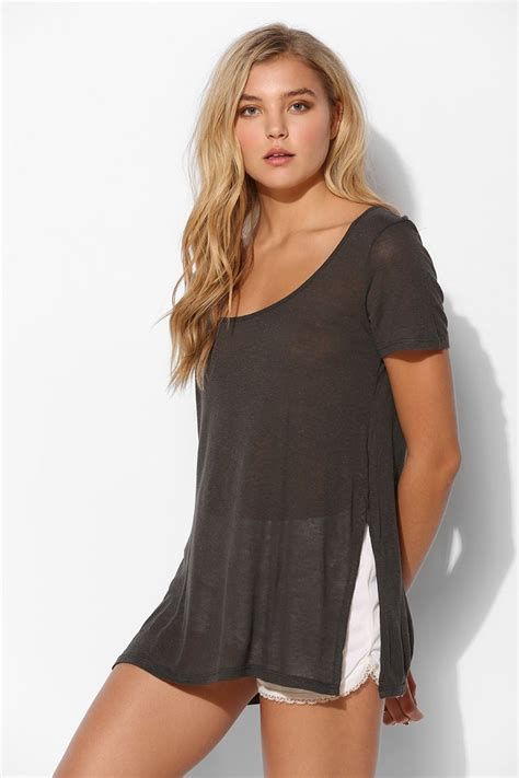 perfect slits silence noise silence noise side slit perfect tee in