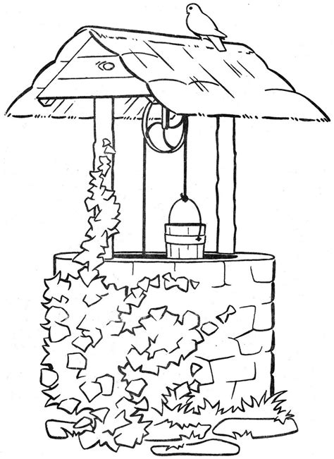coloring page water well 1423 best images about black and white coloring pages on