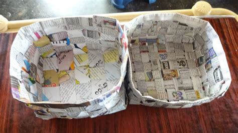 How To Make Paper Basket - how to make news paper basket waste paper basket process