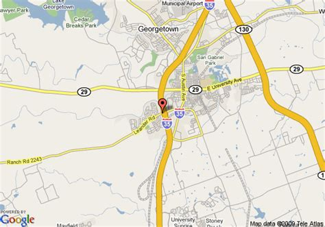 georgetown texas map map of quality inn georgetown georgetown