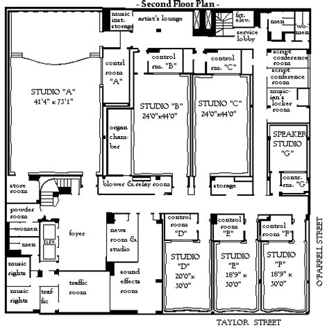 radio city floor plan nbc flr2 bay area radio museum