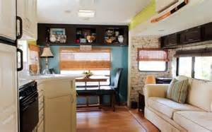 Renovated Campers Couple Renovate 5th Wheel Travel Trailer Into Tiny Home