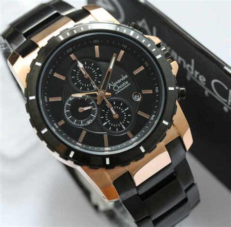 Alexandre Christie 6141 Hitam Gold jam tangan alexandre christie original kode acp20 pria
