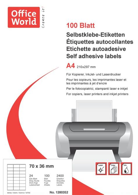 Word Vorlage Etiketten 70 X 36 Office World Etiketten 70 X 36 Mm 100 Blatt Officeworld Ch