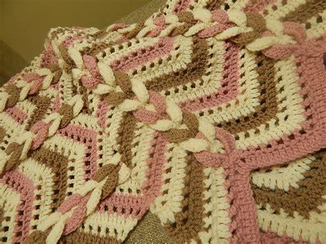 crochet mantas cobija manta tres colores crochet