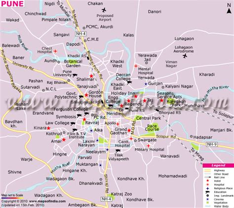 city map of pune steve dave october 2012