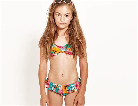 teen swimsuit girls swimwear neontide teen girls bandeau bikini set shop online at