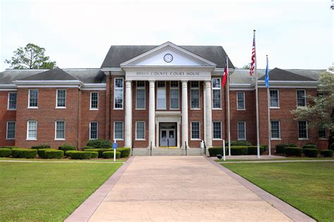 Hinesville Post Office by Bryan County Superior Court
