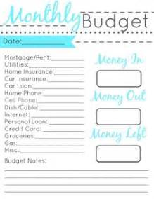 1000 ideas about monthly budget printable on pinterest