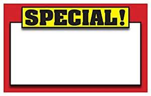 amazon com retail special signs template 5 5 quot x3 5