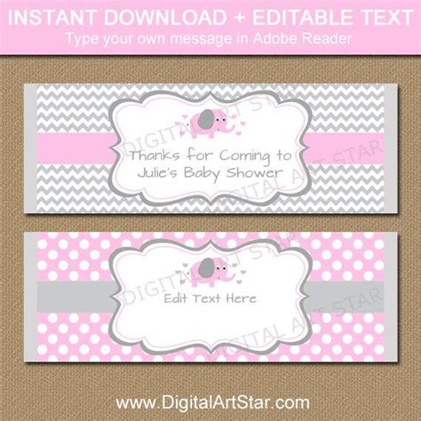 Editable Chocolate Bar Wrapper Template Printable Pink Elephant Candy Bar Wrappers Pink And Bar Wrappers Template For Baby Shower Printable Free