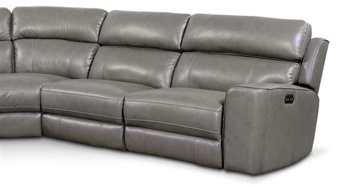 newport sectional newport 5 piece power reclining sectional with 2 reclining