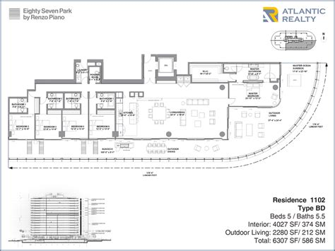 piano floor plan eighty seven park by renzo piano new florida beach homes