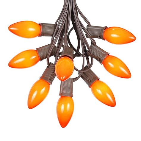 orange string lights target 100 orange c9 christmas light set on brown wire novelty