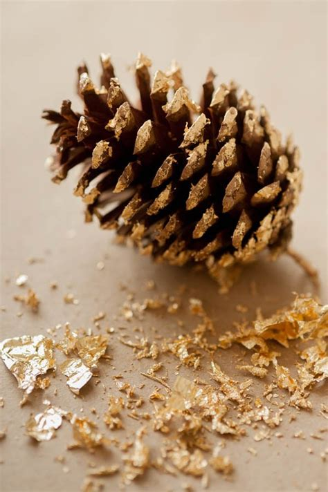 pine cone diy diy gold leaf pine cone garland the sweetest occasion