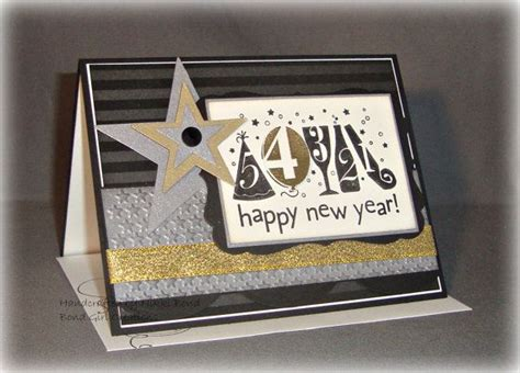 New Year Handmade Cards Ideas - new year happy new year handmade card