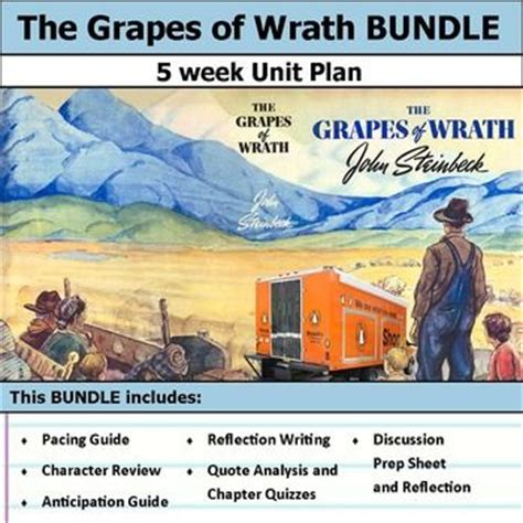 theme of grapes of wrath movie the grapes of wrath unit bundle activities pacing guide