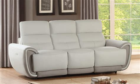 homelegance valda power reclining sofa top grain