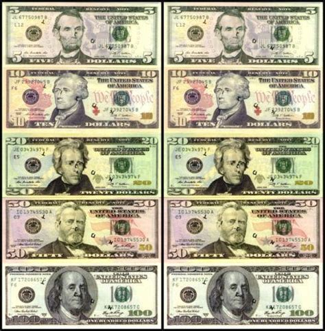 printable fake money that looks real real money ebay