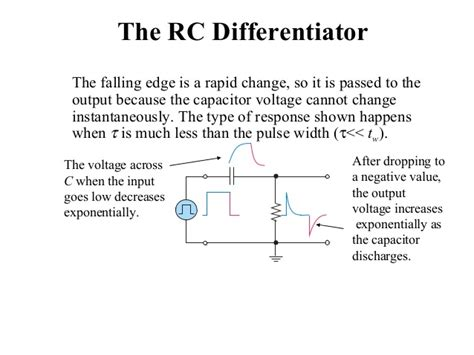 rc rl integrator and differentiator circuits ppt why voltage across a capacitor cannot change instantaneously 28 images rc and rl