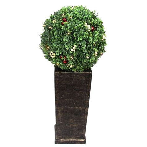 pre lit artificial topiary trees home accents 3 16 ft pre lit led boxwood