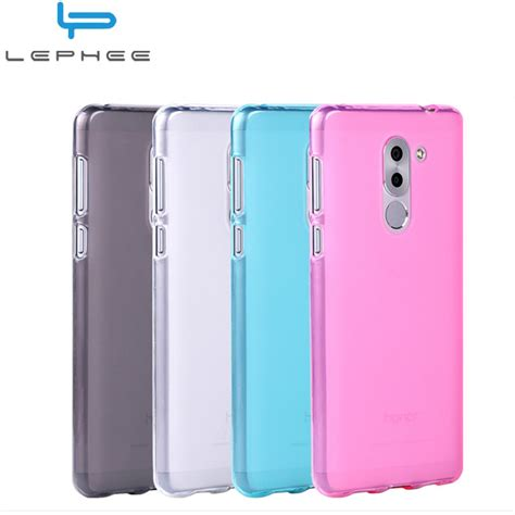 Casing Huawei Honor 6x Logo Custom lephee huawei honor 6x silicone cover huawei mate 9 lite matte tpu soft honnor 6