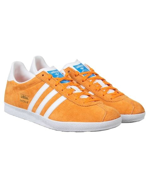 adidas originals gazelle og shoes bright orange adidas originals from iconsume uk