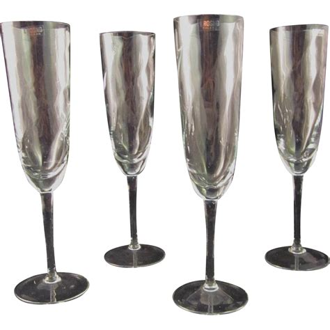 Ck Ruby Set 3in1 K vintage krosno poland chagne flutes set of four from lazydogantiques on ruby