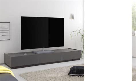 banc tv blanc ou gris laqu 233 mat 3 tiroirs brick 3