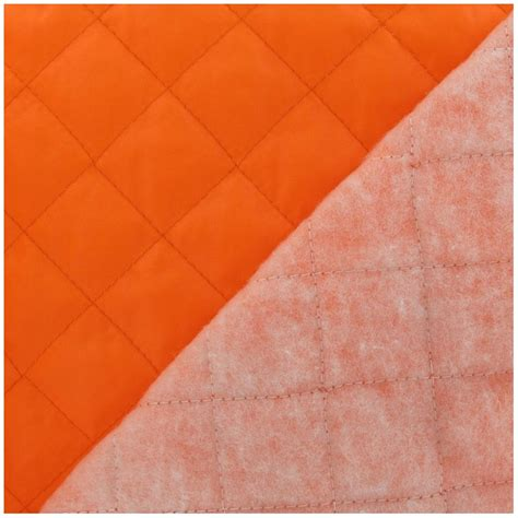Quilt Lining by Quilted Lining Fabric Fluo Orange X 10cm Ma