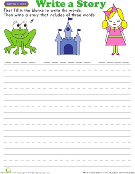 story starters tales worksheet education