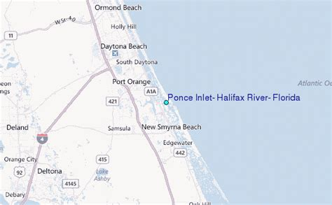 map of ponce inlet florida ponce inlet halifax river florida tide station location