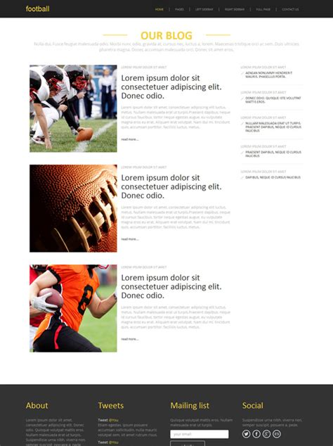 templates for football website association football site template football sports