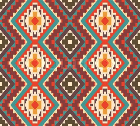 aztec pattern artwork seamless colorful aztec pattern stock vector colourbox