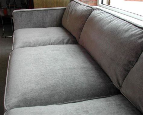 down filled couch harvey probber mohair down filled sofa at 1stdibs