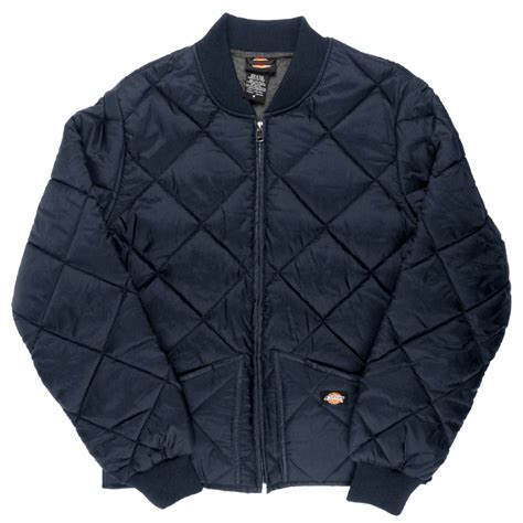 Mens Quilted Work Jackets by Dickies Quilted Jacket S Zip Up Fleece Lined Style 61242 Ebay