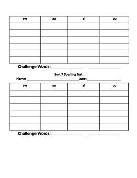 words their way blank sort template word test template commonpence co