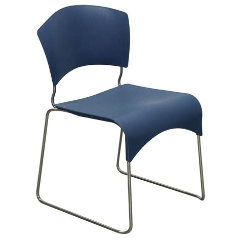 Fixtures Furniture by Fixtures Furniture Jazz Used Stack Chair Blue National