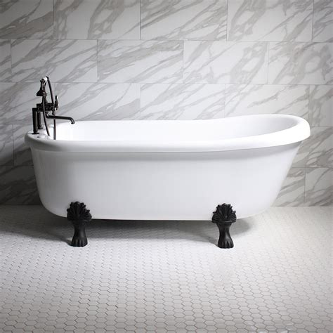 Clawfoot Tub With Whirlpool Jets Empress Em73n 73 Quot Water Air Spa Jetted Slipper Clawfoot