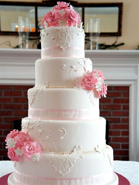 Pink Wedding Cake by Pink Flower Wedding Cake Www Pixshark Images