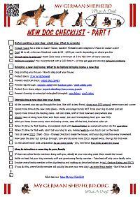 new puppy list new checklist mygermanshepherd org