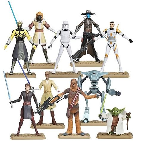 Figure Wars Isi 10 clone wars 2012 figures wave 1 10 figures 183 toys and posters